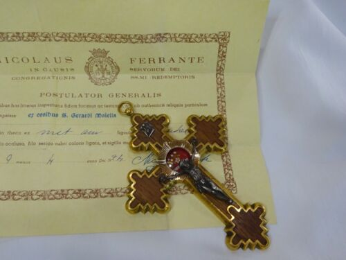 ✝ Reliquary Relic 1st Class St. Gerard Majella + Document