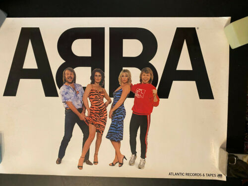 ABBA Atlantic Records promo rolled poster Winner Takes it All era animal print