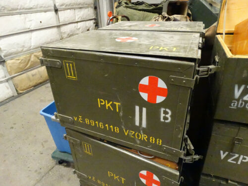 Czech Army Medical Box w/Hinged Door