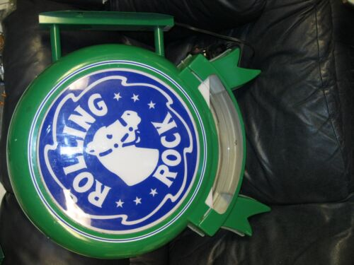 Rolling Rock Beer Light Up Sign Hang Up Man Can Bar