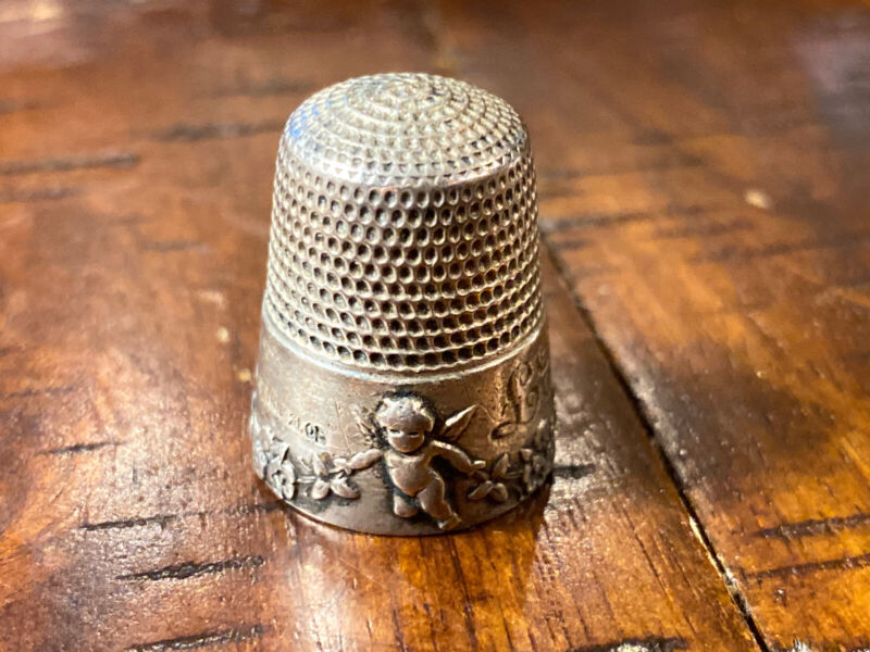 Antique Vintage Simon Bros Thimble Cupid