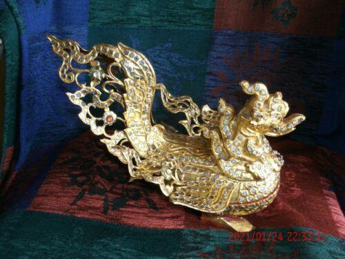 Burmese Lacquered & Gilded Sacred Goose Hintha Betel Box