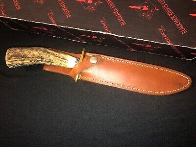 Blackjack Model 1-7 Knife -STAG Handle Fighting Knife -Vtg Collection - USA