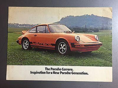 1974 Porsche 911 Carrera Showroom Sales Folder / Brochure RARE!! Awesome L@@K