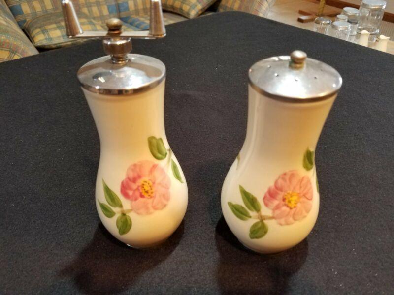 Vintage Franciscan DESERT ROSE Salt Shaker & Pepper Mill/Grinder, Made in USA