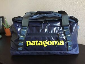 Patagonia Black Hole 45L Duffel Bag Gym / Travel Backpack - Dolomite Blue - EUC!