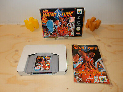 PAL N64: NBA Hangtime Hang Time Boxed Box with Manual Nintendo 64