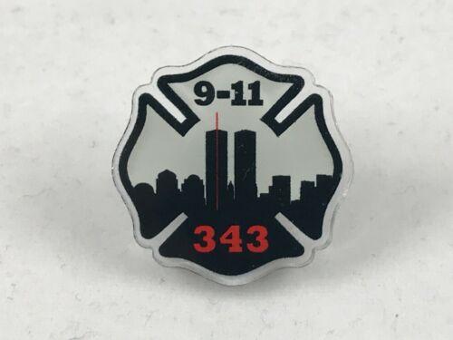 911 343 Firefighter Maltese Cross Thin Red Line Pin Remember September 11 9/11