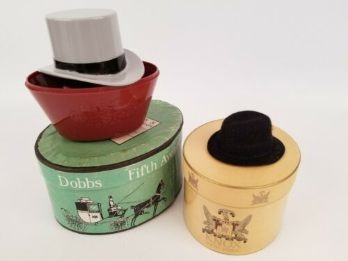 Dobbs Fifth Avenue & Knox New York Salesman Sample Hats and Hat Boxes Vintage