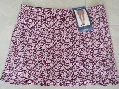 "NEW TRANQUILITY COLORADO CLOTHING YOGA GOLF SKORT SKIRT ""DITZY GARDEN"" Sz. LARGE"