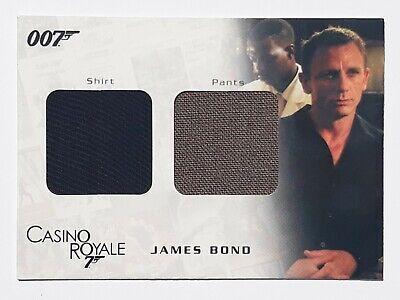 James Bond Costume Trading Card Shirt and Pants 007 Casino Royale Daniel Craig