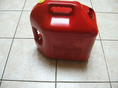 Old School Pre Ban Blitz 5 Gallon Vented Gas Can ---vent Cap--no Spout