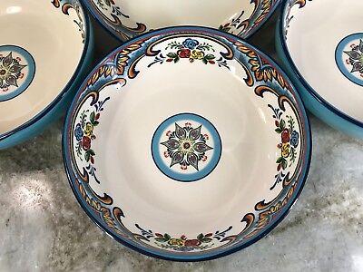 4 Pasta Bowls (Pasta Bowls Set Of 4 Zanzibar By Euro Ceramica. 8.4x2 Inches.)