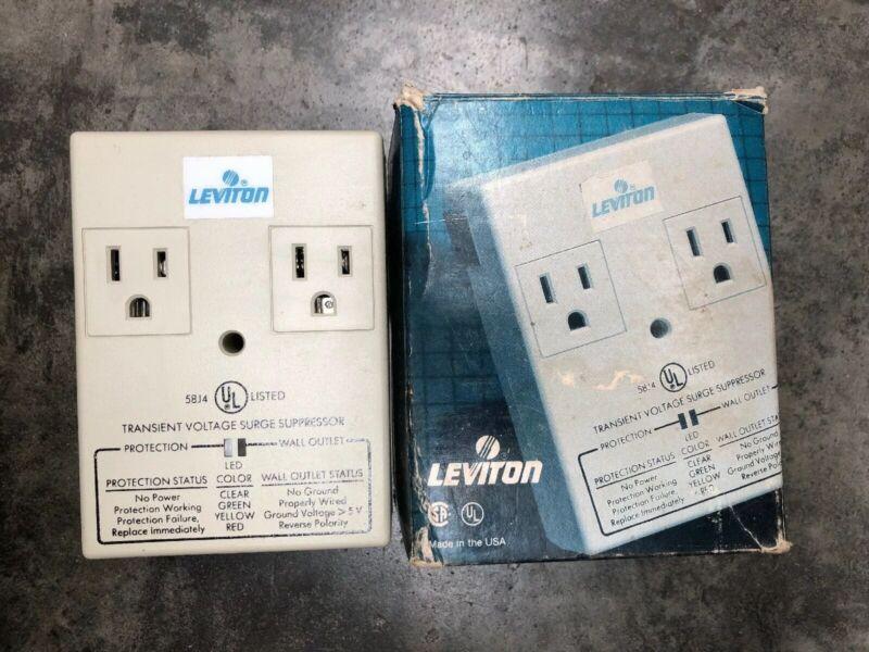 Leviton 5100P Duplex Plug-In Surge Suppressor 120VAC 15A