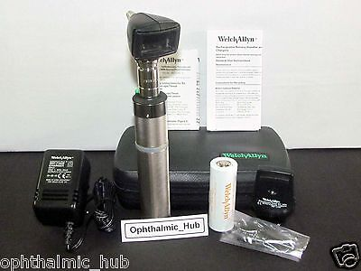 Welch Allyn 3.5v Otoscope Ophthalmoscope With Ni-cad In Case 97220-c