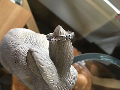 Womens Solid 925 Silver Ring Size N