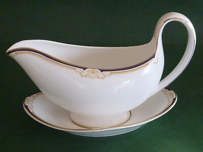 Wedgwood Cavendish Sauce or Gravy Boat & Saucer Stand