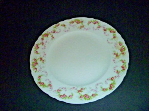 W.S. GEORGE POTTERY - VINTAGE RADISSON PINK FLORAL PATTERN PLATE  - SCALLOPED