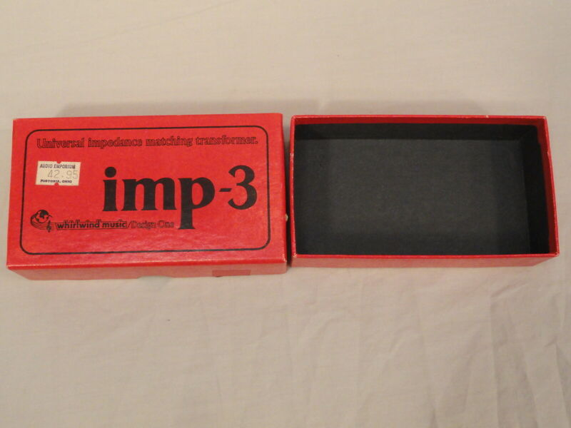 VTG EMPTY BOX ONLY FOR IMP3 UNIVERSAL IMPEDANCE MATCHING TRANSFORMER WHIRLWIND