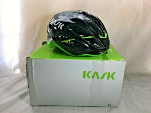 Kask Protone Road Bike Helmet, Black/Lime, Medium