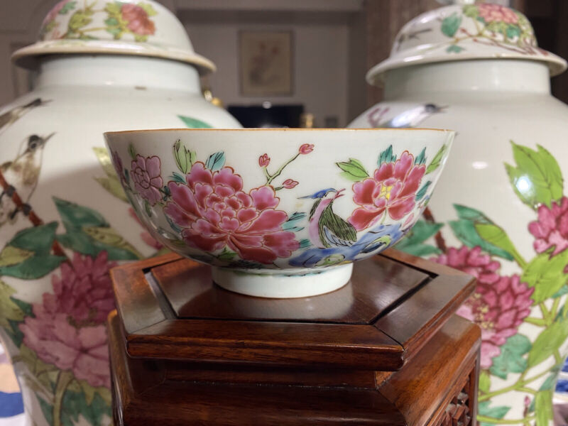 A Superb Antique Chinese Yongzheng Famille Rose Bowl