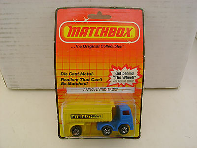 1983 MATCHBOX LESNEY SUPERFAST MB30 LEYLAND ARTICULATED TRUCK MOC