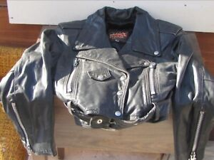 Vintage classic Perfecto leather jacket Cuir Mont-Royal