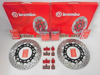 Brembo Bremsscheiben vorne kompl. + Sinter Beläge Yamaha YZF-R1 1000 RN19 RN22