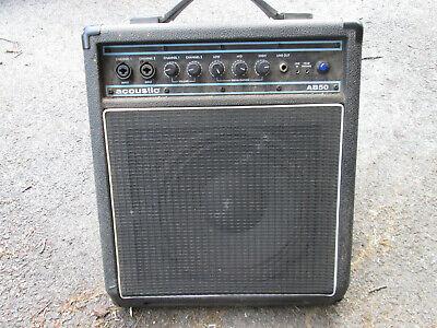 "Acoustic AB-50 50 Watt RMS Compact Bass Guitar Amp ! PA Monitor 10"" Speaker"