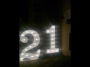 """Party hire """"21""""  Spectacular light up 3D party decoration Sydney City Inner Sydney Preview"""