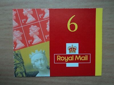 GB 2001 Booklet MB2 6 x 1st Class Red Death Centenary Queen Victoria Walsall