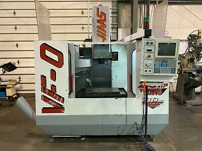 1997 Haas Vf-0 Cnc 3-axis Vertical Machining Center Chip Auger 20 Hp Rigid Tap
