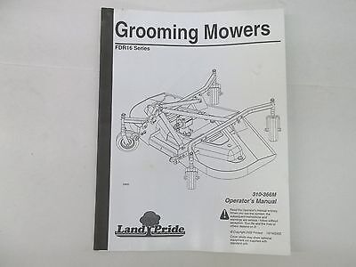 Land Pride Model Fdr16 Grooming Mower Operators Manual