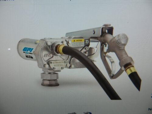 GPI M-1115S-MU Fuel Transfer Pump w/Manual Nozzle 3/4 NPT 115V-AC 12 GPM