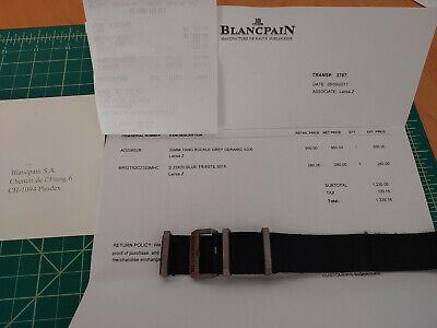 Blancpain Fifty Fathoms Dark Navy Blue Mens Watch Nato Strap 23m Ceramic Buckle