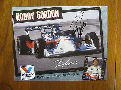 "ROBBY  GORDON    NASCAR/Indy 500   Signed  8"" X 10 1/2""  Color  Photo"