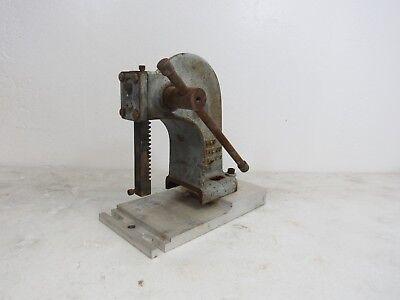 Vintage Famco Machine Co. Model 0 Blue Arbor Press Extended Base Plate 5