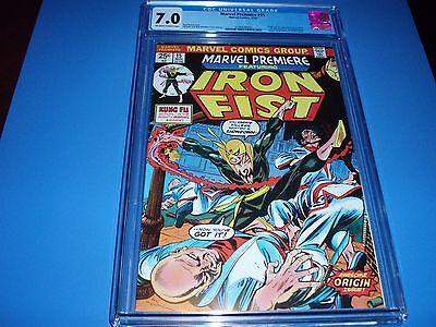 Marvel Premiere 15 CGC 7.0 1st Appearance Iron Fist  Key Bronze Age 1974