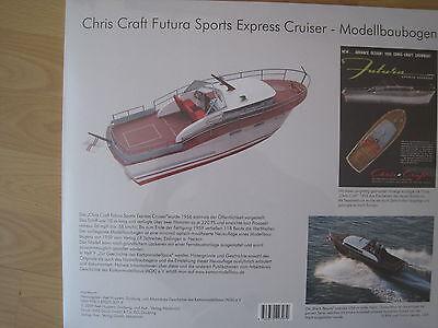 Chris Craft Motoryacht schwimmfähig Kartonbausatz NEU Bastelbogen