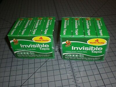 Duck Invisible Tape Matte Finish Tape 4 Refill Rolls Lot Of 2 Packs