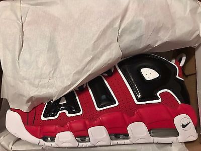 NIKE AIR MORE UPTEMPO '96 Red Black  921948 600 2017 Chicago Bulls Size 13 - New