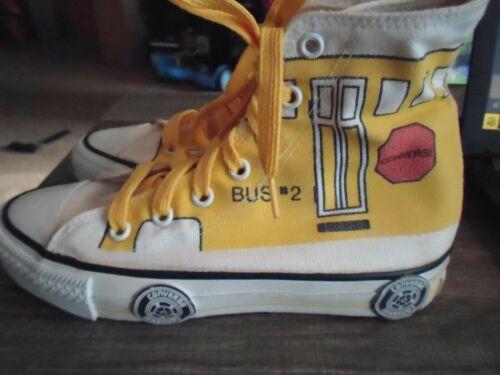 Vintage Converse Yellow School Bus Kids Shoes Sneakers Size 1.5 Boys/Girls