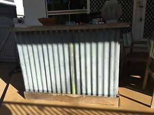 Bar - corrugated iron with timber slab on top Pallarenda Townsville City Preview
