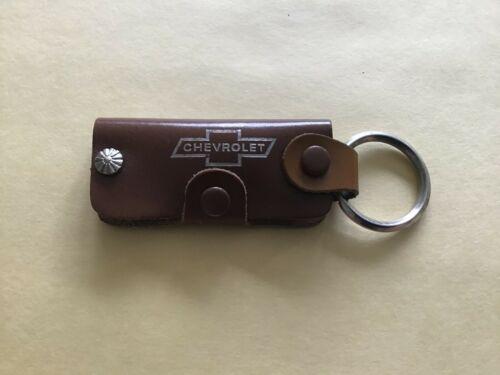 1960s  Chevrolet original dealership promotional leather key chain.