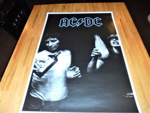 AC/DC Gin & Juice ( Bon Scott Angus Young ACDC ) Poster 24 X 34 Out of Print