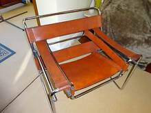 WASSILI CHAIRS SET OF 2  RED LEATHER AND CHROME Darling Point Eastern Suburbs Preview