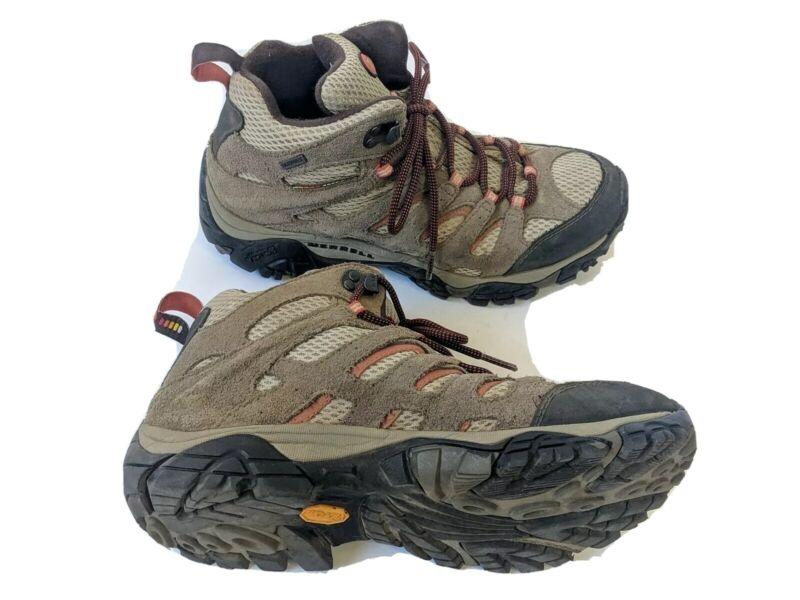 Merrell Moab Womens US 9.5 EUR 40.5 Bungee Cord Waterproof Hiking Boots J88790