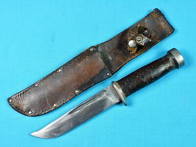 US WW2 Vintage Cattaraugus 225Q Fighting Knife w/ Sheath