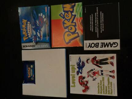 Pokemon Sapphire in Box with Manual