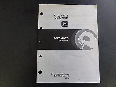John Deere 710 And 15 Utility Carts Operators Manual Omm114255